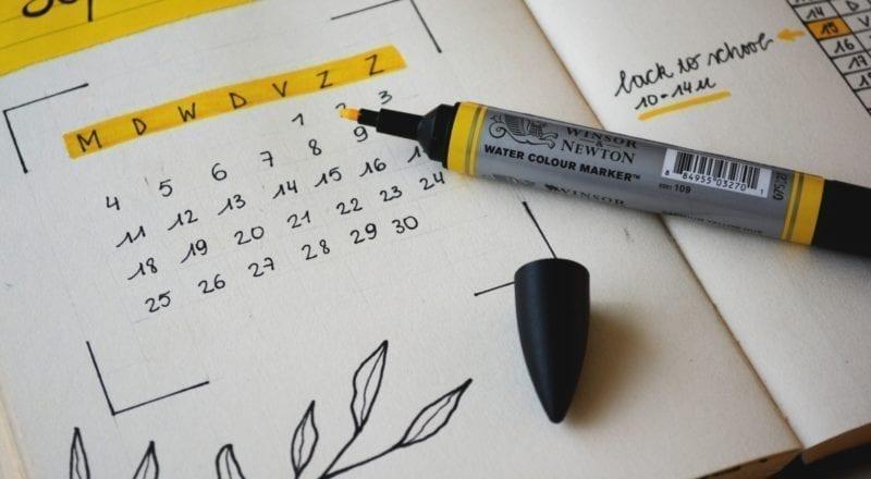 plantilla de planificación de eventos