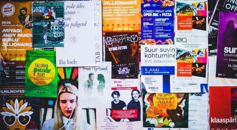 folletos colaterales de marketing de eventos