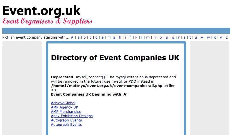 Preguntas para hacerle a un planificador de eventos: Event.org.uk.